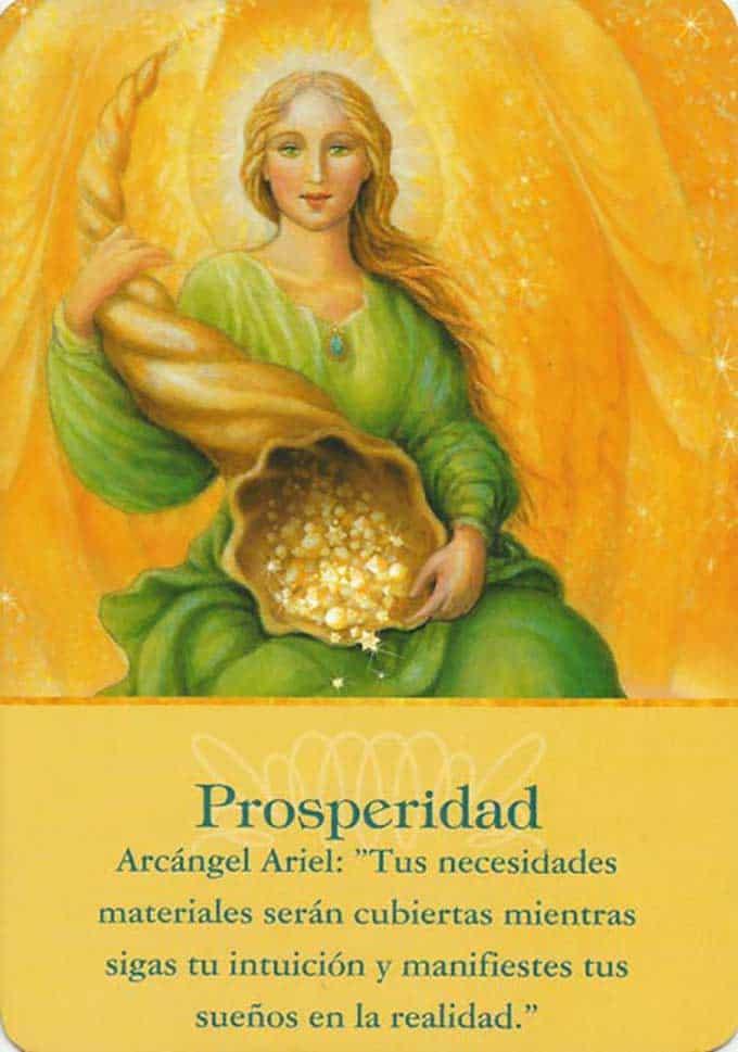 Prosperidad, arcángel Ariel