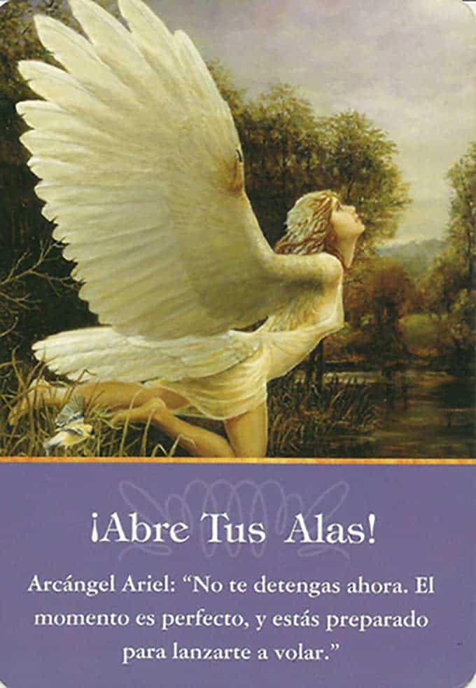 Arcángel Ariel, abre tus alas