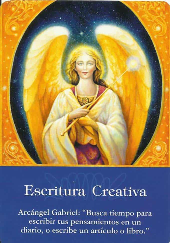 Escritura creativa del arcángel Gabriel