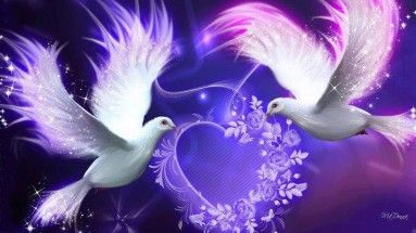 Imagen de palomas dibujadas